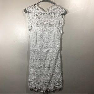 Free People Intimates Daydream White Lace Dress
